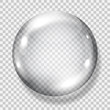 Transparent gray sphere. Transparency only in vector file
