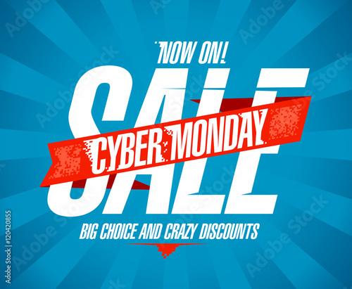 Cyber monday sale vintage design