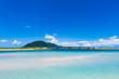 Quadro 海、風景。沖縄、日本、アジア。
