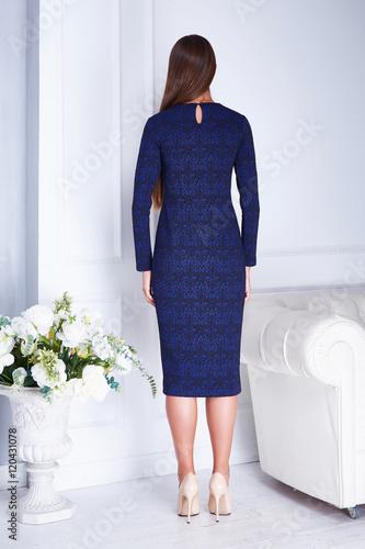 Poster Beautiful sexy woman clothing catalog stylish fashionable dress