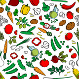 Vegetable ingredients seamless background