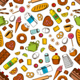 Daily breakfast meal seamless background
