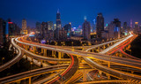Fototapety shanghai elevated road junction