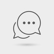 chat thin line icon 2