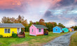 Colourful homes of New England