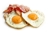 fried eggs and bacon - 120465058
