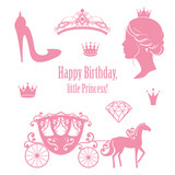 Princess Cinderella Set S Wall Sticker