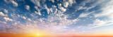 Fototapety Cloudy sky sunrise panorama