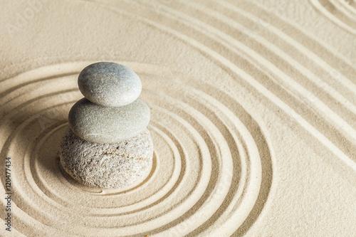In de dag Stenen in het Zand Zen stone garden