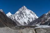K2 mountain and Angel peak, Concordia camp