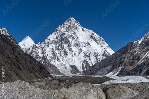 K2 mountain and Angel peak, Concordia camp