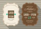 Vintage frame wedding invitation card design Template