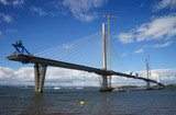 A view of the new Queensferry Crossing Bridge under construction, seen from Port Edgar (Edinburgh, Scotland). - 120494275