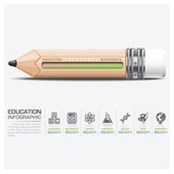 Education And Learning Infographic With Scale Pencil