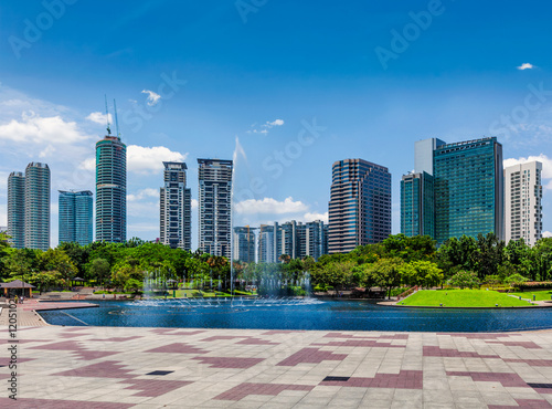 Poster Skyline of Central Business District of Kuala Lumpur, Malaysia