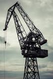 Industrial crane in Gdansk shipyards