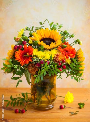 Obraz Autumnal flowers
