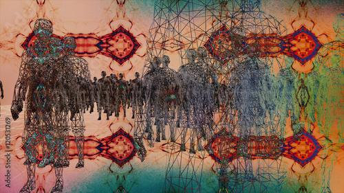 High Tech Humanoids in a Digital Environment - 120531269