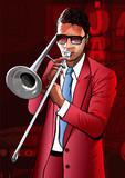 Jazz trombone player - 120550209
