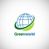 green world globe environment logo