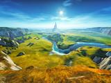 Fototapety a colorful fantasy landscape
