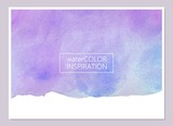 Fototapety Abstract violet and blue watercolor texture. Universal card, invitation, flyer design. Place for text.