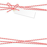 Background with bakers twine bow and ribbons - 120566879