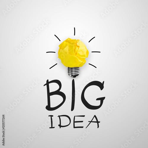 Poster Light bub the big idea concept, Innovative lamp