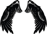 Black Pair of Angelic Wings