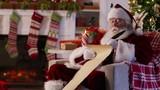 Santa Claus writing on list