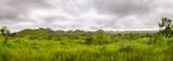 Panorama afrykańskich wzgórz w Kongo, Góra Księżyca.