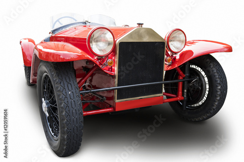 Zdjęcia Classic red car isolated on white