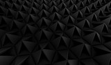 Abstract Black Geometric Background 3d.