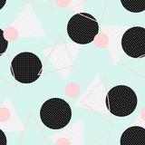 Retro Geometric Pattern - 120604208