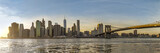 New York, Panorama, skyline,america, Manhattan Downtown urban view with Brooklyn bridge