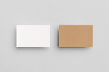Kraft & White Business Card Mock-Up (85x55mm)