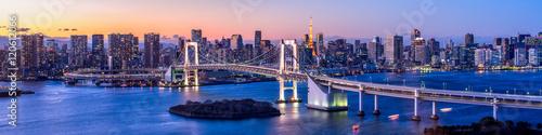 obraz PCV Rainbow Bridge Panorama in Tokyo, Japan