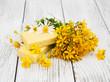 herbal  treatment - camomile, tutsan and soap