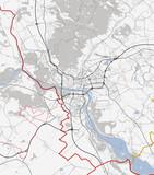 Bratislava map city. Slovakia Roads