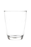 Water glass isolated on white background with clipping path incl