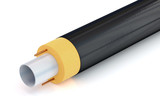 pipe with insulation and heating cable - 120624490