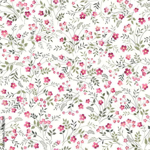 seamless floral pattern on white background - 120626289