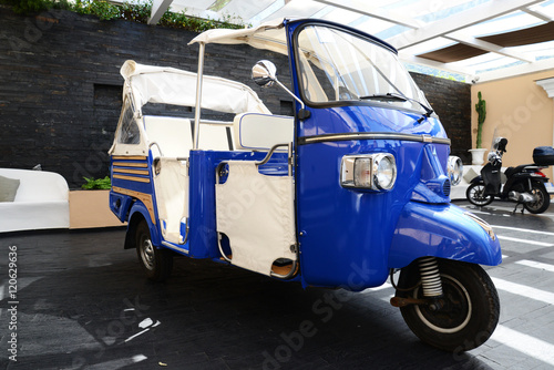 typical ape Piaggio  for guest transport in Capri © gangiskhan