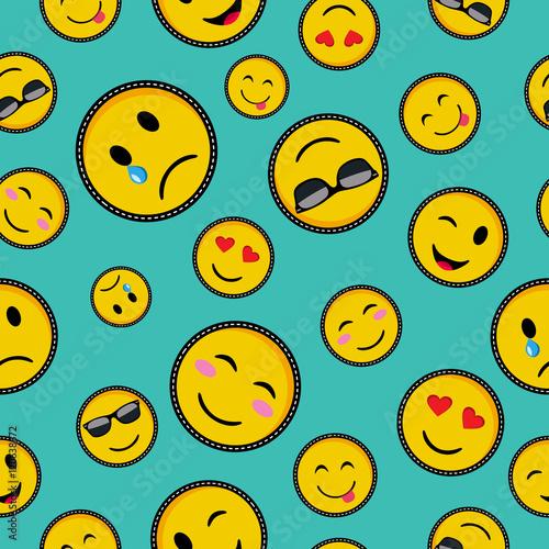 Cute emoji designs Seamless pattern