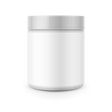 Fototapety White plastic canister template for stain remover.
