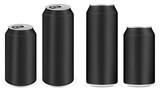 Fototapety black aluminium soft drink cans vector