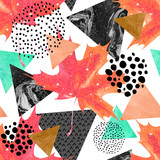Fototapety Abstract autumn geometric seamless pattern.