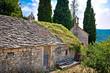 Old stone village of Skrip view