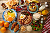 Fototapety Breakfast buffet full continental and english