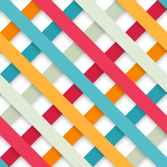 Abstract colored seamless geometric paper strip pattern